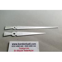 Akrep 13 cm Yelkovan 18 cm Metal Gümüş 100 Adet